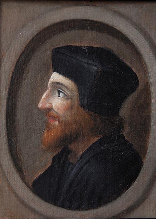 """Ignoto XVI sec, Ritratto del banchiere Agostino Chigi """"il Magnifico"""". Ariccia, Palazzo Chigi, inv. 159"""