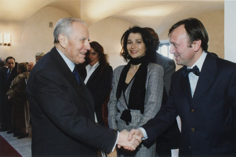Carlo Azeglio Ciampi, F.Petrucci, Inaugur. mostra Le Corti del Barocco, Scuderie del Quirinale, 12 febbraio 2004