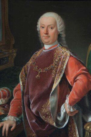 Ignoto XVIII sec., Ritratto del principe Agostino II Chigi della Rovere. Ariccia, Palazzo Chigi, inv. 253