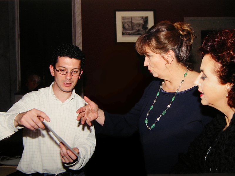 Daniele Petrucci e Iva Zanicchi in visita, 3-4.11.2004
