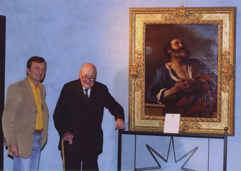 F.Petrucci e Sir Denis Mahon, visita alla mostra Mola e il suo tempo, 15.3.2005