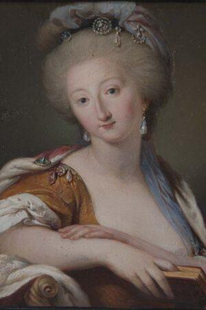 Ludwig Guttenbrunn, Ritratto della principessa Maria Flaminia Odescalchi Chigi. Ariccia, Palazzo Chigi, inv. 260