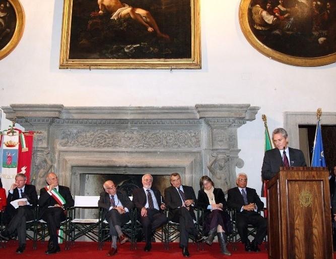 Vincenzo Vita, Cianfanelli, Bertinotti, Lemme, Marrazzo, Rutelli, Giulia Rodano, Inaug Museo Barocco Romano, 10.11.2007