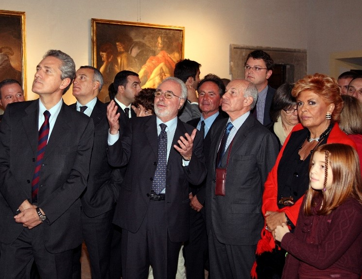 Rutelli, Piero Marrazzo, Lemme, Bertinotti, Inaugurazione del Museo del Barocco Romano, 10.11.2007