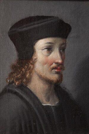 Ignoto XVI sec, Ritratto del banchiere Sigismondo Chigi. Ariccia, Palazzo Chigi, inv. 160