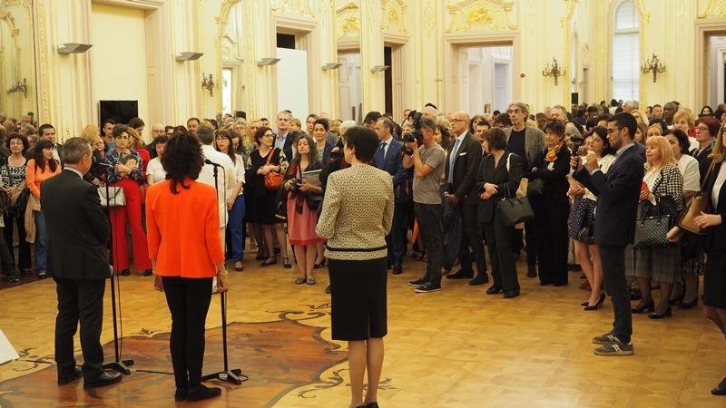 """Inaugurazione mostra """"Bernini e il barocco Romano. Capolavori da Palazzo Chigi in Ariccia"""", Sofia, National Gallery (15 maggio 2018)"""