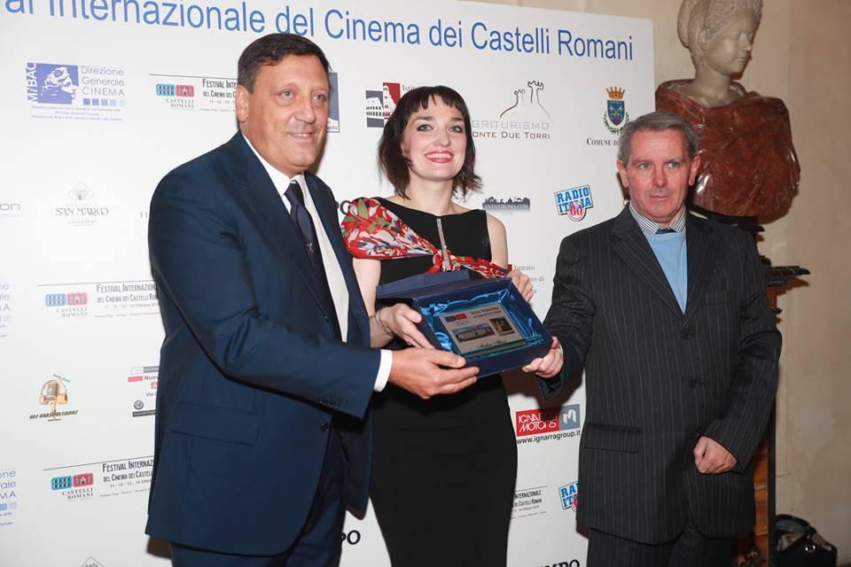 On. Marco Di Stefano, Angelique Cavallari, Roberto Di Felice, Festival Internazionale del cinema dei Castelli Romani, ottobre 2018