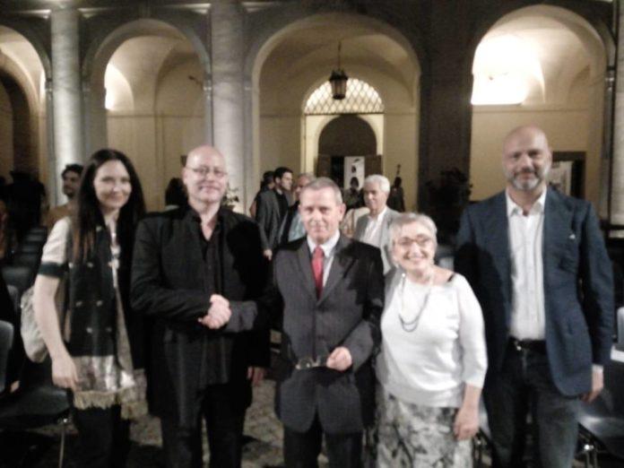 Il Maestro Pino Jodice, Robero Di Felice, Giovanna Manci, concerto, luglio 2018