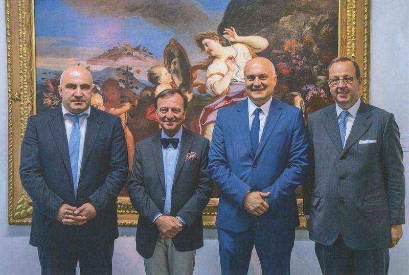 Dir. Gen. Turismo, F.Petrucci, David Lordkipanidze Dir. Georgian Nat. Mus., Antonio Enrico Bartoli Amb.re, 10.9.2018