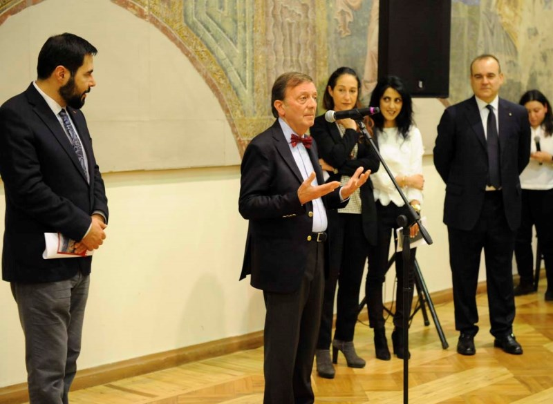 Direttore National Gallery, F.Petrucci, Sen. Taverna, Amb. Vincenzo Del Monaco, 5.12.2018