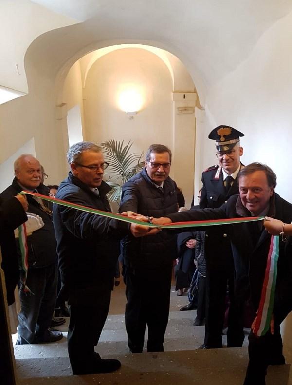 Roberto Di Felice, Maurizio Capogrossi, Comandante Coltellaro, inaugurazione Donazioni, 3.5.2019
