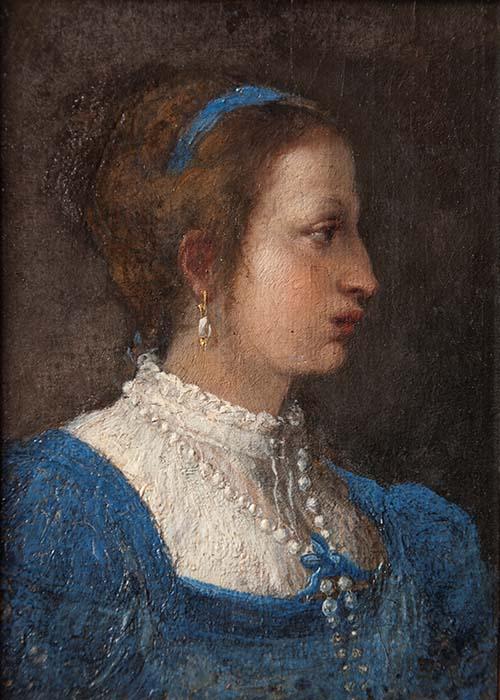 Ignoto XVI sec, Ritratto di Sulpizia Petrucci Chigi. Ariccia, Palazzo Chigi, inv. 161