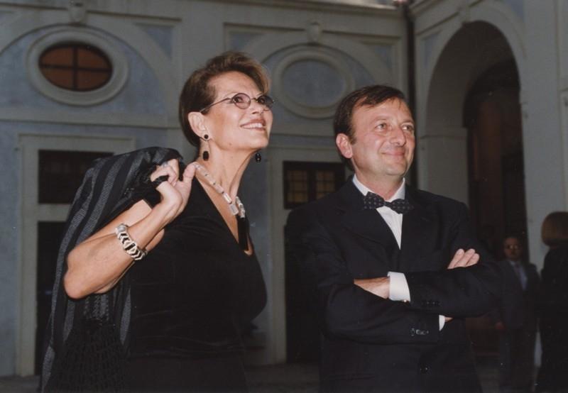 F.Petrucci, Claudia Cardinale, inaugurazione mostra Gattopardo, 12.10.2001