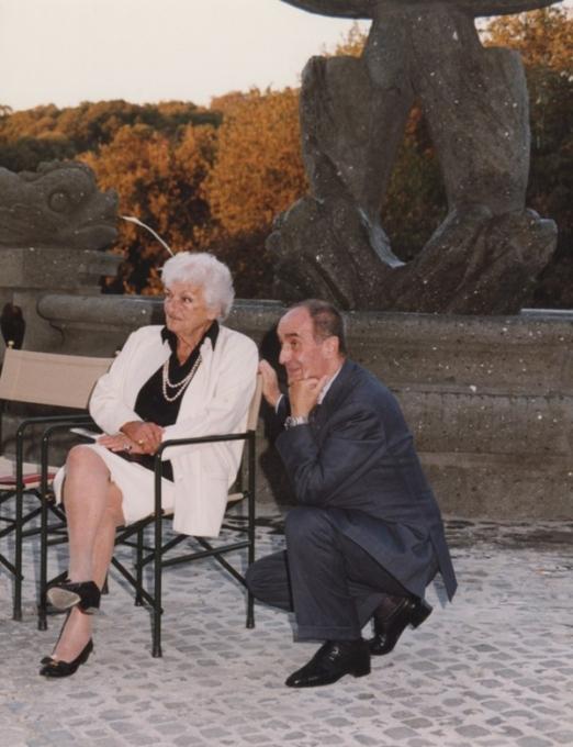 Suso Cecchi D'Amico e Giorgio Pes, Inaugurazione mostra Gattopardo, 12.10.2001