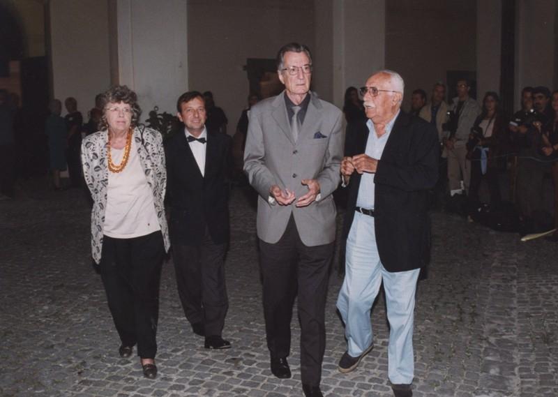 Carlo Lizzani e F.Petrucci, Carlo Alberto Balestruzzi, Inaugurazione mostra Gattopardo, 12.10.2001