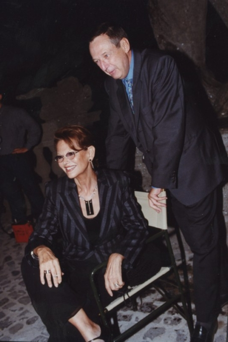 Claudia Cardinale e Gioacchino Lanza Tomasi, Inaugurazione mostra Gattopardo, 12.10.2001