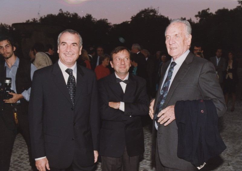 Frappelli, Petrucci e Massimo Girotti, Inaugurazione mostra Gattopardo, 12.10.2001