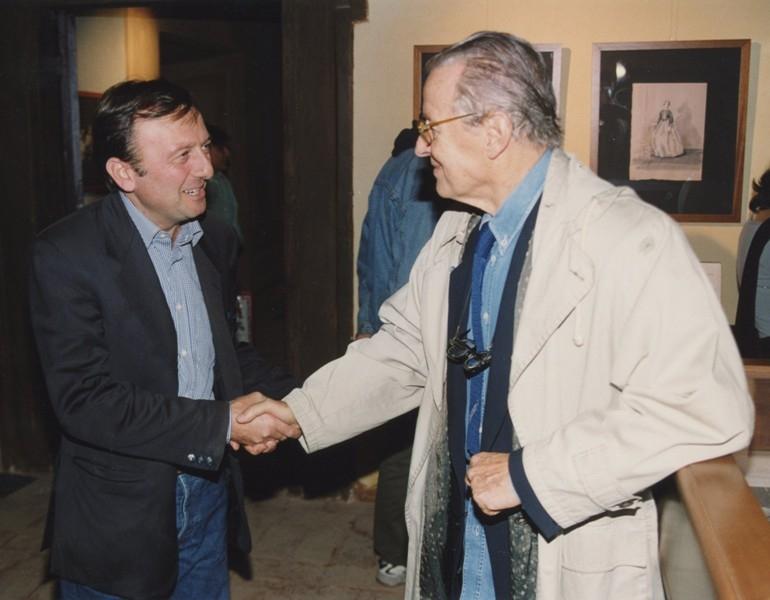 F.Petrucci e Piero Tosi, mostra La Scena del Principe Visconti e il Gattopardo, 2001