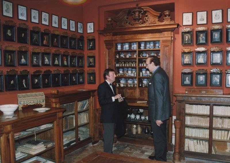 Pippo Baudo e F.Petrucci, cena del Gattopardo, 24.11.2001